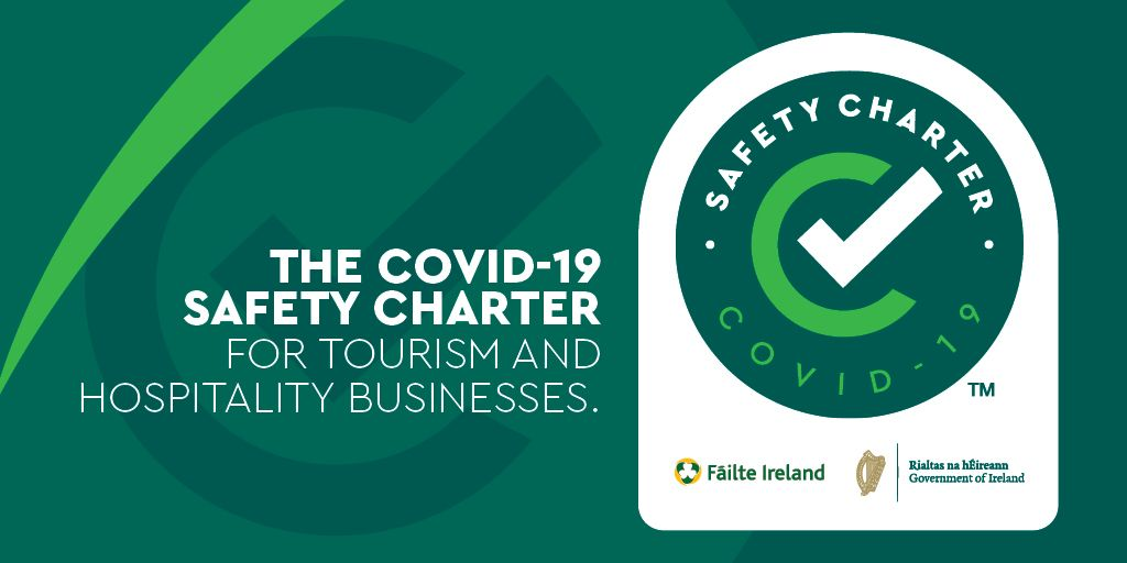 Luxury guided Tours of Ireland Luxury Irish Tours has completed the Covid-19 Safety Charter